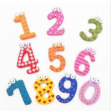Kids Wooden 1Set 10pcs Number 1-10 Alphabet Fridge Magnet Child Educational Toy