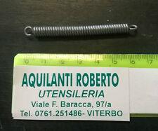 molla a trazione in acciaio armonico zincato L 62 mm - ø 5,5 mm - filo 1,2 mm