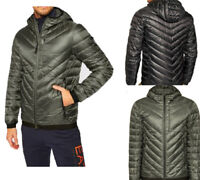 EMPORIO ARMANI MENS EA7 PADDED DOWN JACKET WITH FULL- LENGTH ZIP