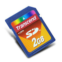Transcend 2GB SD card Camera storage card Flash memory card High speed card