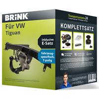 Anhängerkupplung BRINK schwenkbar für VW Tiguan +E-Satz AHK