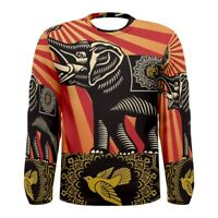 New Obey Elephant Sublimated Long Sleeve T-Shirt Men's Size S-3XL Free Shipping