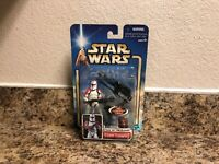 STAR WARS - ATTACK OF THE CLONES SAGA CARDED CLONE TROOPER (RED ),NEW ,RARE