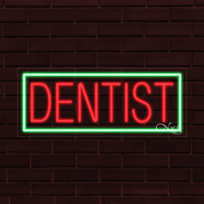 Brand New Dentist Withborder 32x13x1 Inch Led Flex Indoor Sign 30048