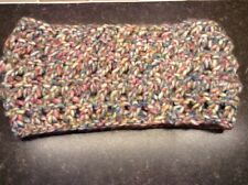 """Ladies Handmade Knitted Multi Coloured Cowl/Snood 8""""w x 32""""l NEW"""