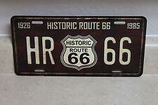 HISTORIC ROUTE 66  NOVELTY LICENSE PLATE 1926-1985 NEW (NOT EMBOSSED)