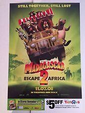 MADAGASCAR 2 -13.25x20 D/S PROMO MOVIE POSTER