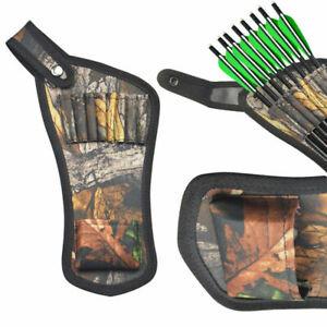 Crossbow Arrow Quiver Bag 8 Holes Pouch Holder Waist Hip Belt Portable Hunting