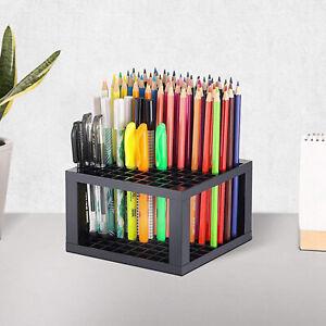 Folding Stable Pen Holder Stand Solid Dresser Desk Brushes Organizer Marker Rack