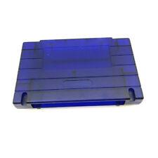 Transparent Blue Shell Cartridge Case For Super Nintendo SNES Snap-On