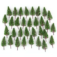 50pcs HO or OO Scale Model Pine Trees Model Train Park Trees Scenery 78mm