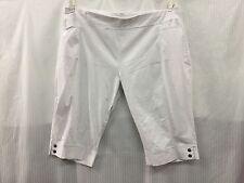 TS Taking Shape fits Plus Size 22 24 White Stretchy Short Cashual Pants Shorts
