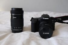 Canon EOS 77D 24.2 MP Digital SLR Camera W/ 18-55mm And 55-200mm Lens + More