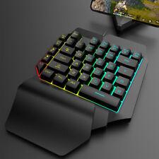 Mechanical RGB Backlit Light Keyboard Wired USB 39 Key One-Handed Gaming Keypad