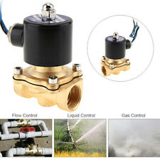 1 Pcs DC12V 1/2'' Brass Inlet Electric Solenoid Water Air Valve Gas NPT Car SUV