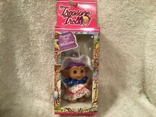 Vintage New Treasure Troll Belly Button Wishstone Purple Hair Ace Novelty Co Usa