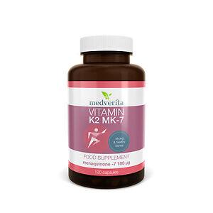 Vitamin K2 MK-7 100mcg + Prebiotic inulin 120 capsules - No fillers or binders