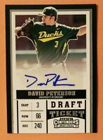 2017 Panini Contenders, David Peterson RC, Rookie Draft Ticket Auto Autograph