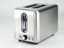 Toaster 2 Slice Wide Slot Bread Bagels Defrost Buns Automatic, 925 W Stainless