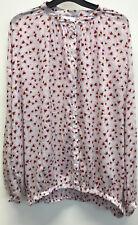 H&m Anna Glover Pink Floral Shirt Blouse 14 42
