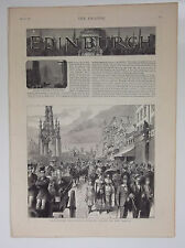 Scotland Edinburgh illustré 1879 JOURNAL D'ARRACHEMENT des photos et texte