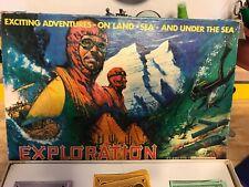 Vintage Rare Exploration Board Game 1967 Spiring Mountaineering Sailing Diving
