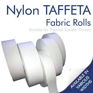 Wash Care Label NYLON TAFFETA Fabric For Thermal Transfer Printing