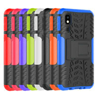 For Samsung Galaxy A2 Core Rugged Shockproof Hybrid Armor Stand Shell Cover Case