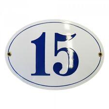 Hausnummer Hausnummernschild Emaille 10x15 cm Oval mit Wunschnummer