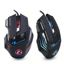 Souris Gamer Filaire 7 Boutons Programmable Ergonomique 5500 DPI Gaming PC LED