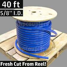 "40 ft 5/8"" ID FlexFab 5526 Blue Silicone Heater Hose 16mm 350F Radiator Coolant"