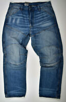 G-Star RAW, Elwood 5620 Loose Deconstructed 3D Relaxed Jeans, W33 L32 Blau