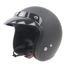 Motorcycle Cycling Bike Sun Visor 3/4 Half Helmet Open Face Cap For Halley Motor