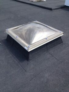 Dome Rooflight/Polycarbonate/Skylight for Flat Roofs Double Skin 915mmx915mm