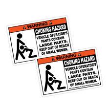 2x WARNING CHOCKING HAZARD JDM Sticker Decal Car  #1163