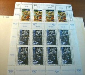 Foreign Souvenir Sheets  Austria Scott# B359  2 sheets MNH  H97