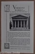 1930 Vermont Marble advertisement, Erie Pennsylvania Bank, Old Custom House