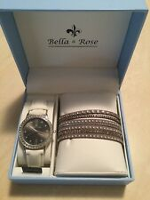 Ladies Bella & Rose Boxed Gift Set Watch and Wrist Bracelet - New and Unused in