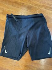 NWT Nike Aeroswift 1/2 Length Running Tights CJ7843-010 Black Size Men's XL