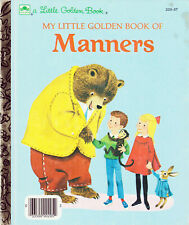 VINTAGE MY LITTLE GOLDEN BOOK OF MANNERS 1962 RARE 1st Edition Richard Scarry