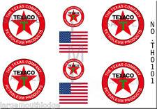 HO SCALE TEXACO OIL MODEL TANKER TRUCK DECALS THO101