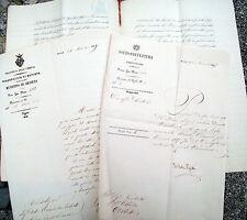 1867 LOTTO DI TRE DOCUMENTI DI ORVIETO AUTOGRAFO SINDACO GIUSEPPE RAVIZZA
