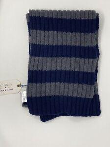 Sciarpa In The Box misto Cashmere scarf Stripe Rugby Blu/grigio