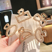 Lovely Medium and small Geometric Hair Claw Clamp Metal Hair Clip Accessories
