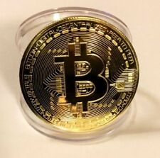 Gold BTC Coin Commemorative Coins Physical Bitcoins Casascius Bit BTC Collection