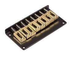 Genuine Hipshot Ibanez Flat Plate replacement Bridge 8 String Black/Gold 4IBF08G