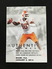 "CLEMSON UNIVERSITY VS OHIO STATE ""ORANGE BOWL"" JAN 3, 2014 SP FOOTBALL CARD"