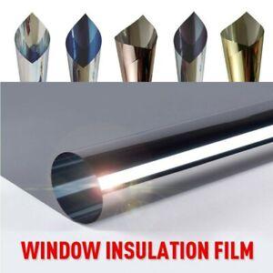 Spiegelfolie Selbstklebend Sonnenschutz Fenster Folie Sichtschutz Gold Silber-UV