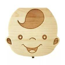 Scatola cofanetto porta dentini denti latte in legno box decorato bambino