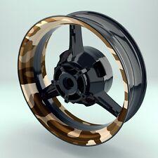 """AUTOCOLLANT DE JANTE MOTO RIM wheelsticker """" camouflage désert """""""